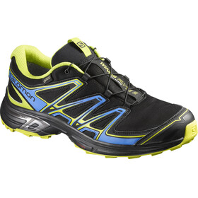 Salomon Wings Flyte 2 GTX Trailrunning Shoes Men black/bright blue/gecko green